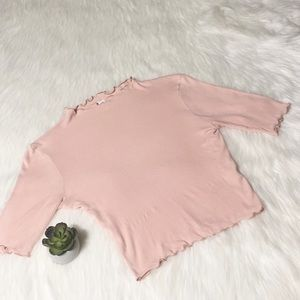 Pretty Pink Stretchy Crop Top by Brass Plum